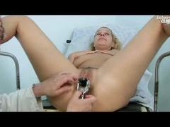 Doctor gives her a thorough pussy exam videos