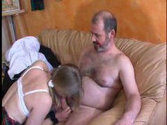 Two older guys fucking the cute french girl movies at kilopics.com