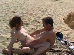 Babe stuffed with cock on public beach videos