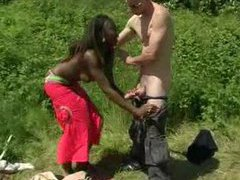 Black chick banged in the ass outdoors videos
