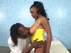 Busty ebony slut takes big black cock videos