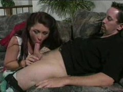 Hard cock starts to bone her ass clip