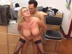 Office milf in glasses makes great sex partner videos