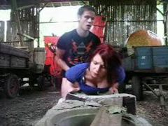 Redhead fucked in a pile of hay videos