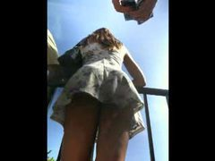 Amateur upskirts carrying the camera around videos