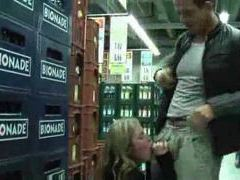 Dude fucks his lady in the supermarket videos