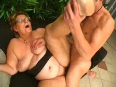 Fat older slut in glasses craves big dick videos