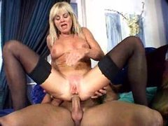 Horny mature gal in stockings likes cock movies at sgirls.net
