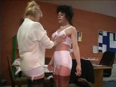 Lovely ladies dressing in vintage lingerie videos