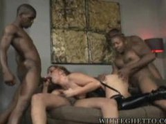 Black guys lined up to fuck this curvy slut videos