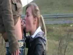 Chick deepthroats her man near the highway movies at find-best-tits.com