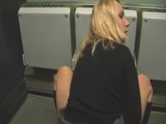 Chick having naughty sex on a public train videos