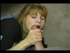 Chick blows and gets a huge facial videos