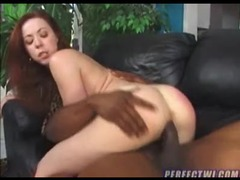Redhead nailed in her pussy and ass by black videos