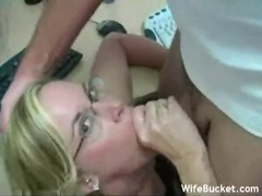 Chick in glasses gets big load in the office movies at find-best-ass.com