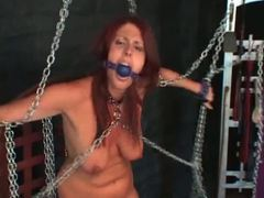 Chained and gagged girl in the dungeon movies at kilovideos.com