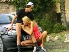 Big cock slut fucked on hood of car movies at kilopics.net