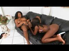 Black on black lesbian strapon sex scene movies at sgirls.net