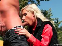 Satin blouse on suck and fuck girl outdoors movies at kilopills.com