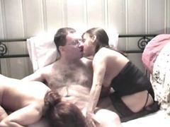 Nerdy dude pleasured by two amateurs movies at kilopics.net