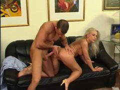 Elegant blonde with luscious long legs pumped from behind movies at find-best-ass.com