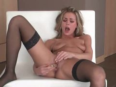 Long dildo fucks a sexy blonde girl movies