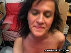 Amateur milf sucks and fucks with cum in mouth movies