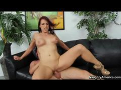 Fiery redhead milf bends over for dick videos