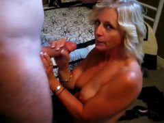 Golden haired mature sucks and strokes dick videos