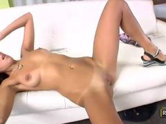Scorching hot latina teen with nice long legs gets rammed tubes