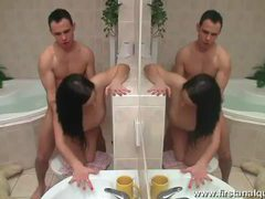 Raven haired hottie tereza getting ass fucked in the bathroom videos