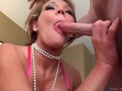 Babe with pearls face fucked then gets facial movies at find-best-babes.com