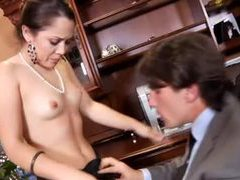 Gorgeous hot cocksucker in office videos