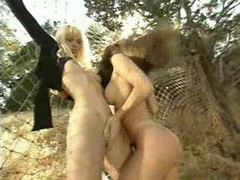 Luscious lesbians finger wet pussy outdoors movies at dailyadult.info