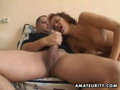 Amateur girlfriend toys and sucks with facial cumshot movies at sgirls.net