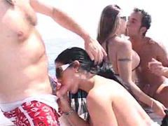 Hardcore foursome on a boat movies at find-best-panties.com