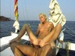 Anal sex on a boat with slender blonde videos