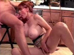 Redhead mature with incredible tits sucks her lovers cock videos