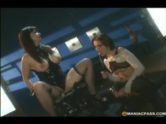 Dildo machine makes lesbian scene so spicy movies at find-best-panties.com