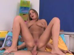 Pretty blonde with perfect tan enjoys ass to mouth session movies at kilopics.net