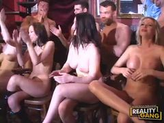 Smoking hot ladies get their holes filled at naughty bar videos