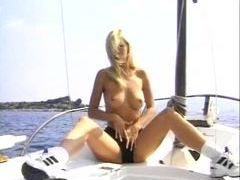 Blonde babe on boat fucked in the cunt tubes