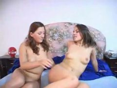 Lesbian couple with hairy muffs enjoy sex videos