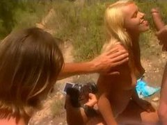 His two lovers outdoors are sexy girls movies