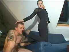 Foot tease from his lady in business clothes movies at sgirls.net