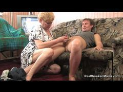 Granny in glasses sucks a cock videos