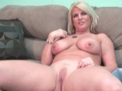 Curvy blonde gets naked and chats with you movies at adipics.com