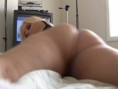 Horny blonde in tiny panties exposes her pussy movies at kilopics.net