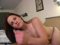 Redhead milf gives a handjob pov style movies at find-best-lingerie.com