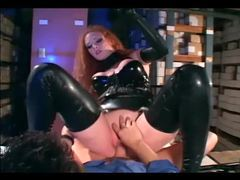 Redhead fucking in gloves and a latex uniform videos